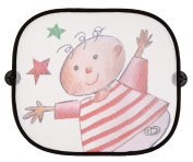 Altabebe AL7022 - 02 Car Window Sunshade in Child with Stars Design Approximately 44 x 36 cm [Pack of 2]