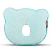 Moolecole New Blue Bear Soft Cotton Baby Toddler Pillow Sleeping Head Shape Support Pillows
