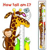 Small World Design Jungle Fun Children's Height Chart