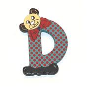 """Legler """"D"""" Bear's Head Letter Children's Furniture"""