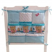 Cute Baby Crib Hanging Nappy Bag Storage Bag Baby Room Decor,Bears