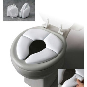 New Traveller Folding Padded Toilet Seat Soft Baby Toddler Training Helper Potty Shopmonk