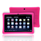 NSSTAR Soft Silicone Slim 18cm Tablet Protective Back Case Cover for Chromo,Dragon Touch A13 Q88,Y88,Afunta Q88,AGPtek,Alldaymall,FastTouch,Zeepad 7.0,Fortress,Tagital,ZTO N1,ZTO N1 Plus
