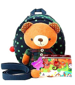 XIAOMEI Branded Baby/Toddler Detachable 3D Soft Toy Safety Backpack Walking Harness and Reins With Gift Purse - Navy