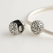 General Gifts Art Nouveau Lace 925 Sterling Silver Clip Stopper Bead Charm For Pandora, Biagi, Chamilia, Troll And More Bracelets