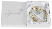 Juliana Gold/Silver Charm Bracelet with Heart 'A Special Mum' Boxed Gift