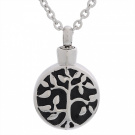 VALYRIA Cremation Jewellery Stainless Steel Celtic Tree of Life Urn Pendant Necklace Memorial Ash Keepsake