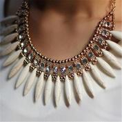 Chain Choker Chunky Rhinestone Necklace