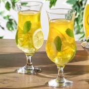 Set of 4 Hurricane Shaped 14oz / 420ml Cocktail Juice Glasses