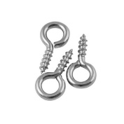 200pcs Silver Tone Screw Eyes Pin Findings for Clay Jewellery, Resin, Bead, Plastic Size 12 Mm X Hoop 5 Mm