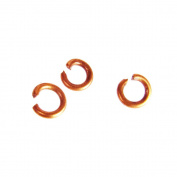 4mm Open Jump Rings -- Antique Copper