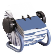 Rolodex Metal Rotary Business Card File, 200-Card Blue