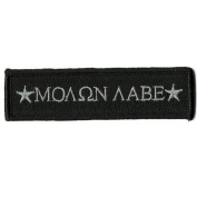 Molon Labe Morale Tactical Patch - Black by Gadsden and Culpeper