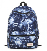 HotStyle TrendyMax Lightning Pattern Vintage Style Unisex Fashion Casual School Travel Laptop Backpack Rucksack Daypack Tablet Bags