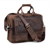Kattee Leather Men's Dark Brown 40cm Laptop Bag Briefcase Handbag Messenger Shoulder Bag