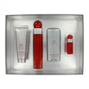 Perry Ellis 360 Red by Perry Ellis Gift Set -- 100ml Eau De Toilette Spray + 90ml After Shave Balm + 90ml Shower Gel +.740ml Eau De Toilette Spray for Men