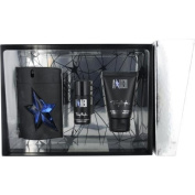 Angel By Thierry Mugler Gift Set For Men Edt Spray Rubber Bottle 100ml & Hair And Body Shampoo 50ml & Deodorant Stick .210ml