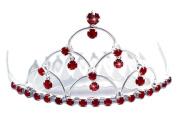 Mini Tiara Hair Comb Dangling Crystals Flower Girl Princess Crown