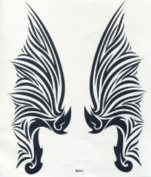 GGSELL GGSELL hot selling extra large new design big size 20cm x 22cm waterproof angel wings temporary tattoo sticker for back""