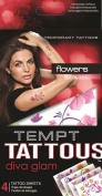 Tempt Tattous Temporary Tattoos, Flowers, 90ml