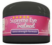 Supreme Eye Treatment Cream by DIVA Fit & Sexy - All-Natural Formula Made with Organic Aloe Gel to Remove Dark Circles, Reduce Puffiness, Ease Under Eye Bags, Repair Premature Ageing Signs, Wrinkles, Crow's Feet and Improve Facial Lines - 100% Satisfac ..