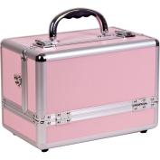 Sunrise 6-Tiers Extendable Trays Makeup Artist Travel Cosmetic Organiser Train Case w/Shoulder Strap