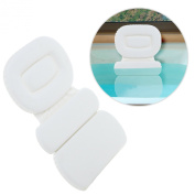 Soft Luxurious Foam Padded Large White Spa Bath Pillow / Hot Tub Head & Back Cushion