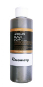 Made From Nature 100% Natural African Black Soap with Natural Essential Oil Selection (Moroccan Argan Oil, Cinnamon, Peppermint, Rosemary, and Vitamin E Oil) Great for Delicate, Normal and Combination Skin Types 240ml