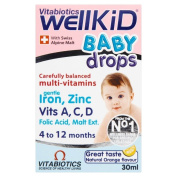 Vitabiotics Wellkid Baby Drops (30ml) - Pack of 2