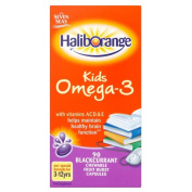 Haliborange Omega-3 Fish Oil Blackcurrant Chewy Capsules (90) - Pack of 2