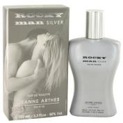 Rocky Man Silver by Jeanne Arthes Eau De Toilette Spray 100ml -100% Authentic