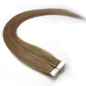 Full Hair 60cm Caramel Blonde (#18) 40 Pcs 100g Per Set Pu Tape in 100% Remy Human Hair Extensions Fashion Tape in Hair Extensions