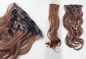 Manufacturers Selling High Temperature Wire Materials Best-selling Layer 7 Wave Women Hair Extention light brown