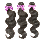 "Brazillian Virgin Hair Body Wave 3 Bundles 16""18""20"" Brazilian Body Wave Virgin Human Hair Weaves Mink Natural Black Colour"