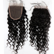 Dreamhair Brazilian Hair Closures Deep Curl 10cm x 10cm Swiss Lace Human Hair Closure