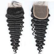 Dreamhair Top Quality 100% Row Virgin Peruvian Human Hair Lace Closure Deep Wave Lace Size 10cm x 10cm
