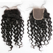 Dreamhair 10cm x 10cm Loose Deep Wave Lace Closure Brown Colour Swiss Lace Real Brazlian Human Hair