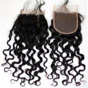 Dreamhair 10cm x 10cm Lace Closure Bleached Knots Brazilian Virgin Remy Hair Loose Curl