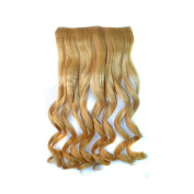Alay & me Brown & Blonde Collection Ombre Curly Clip in Hair Extension