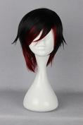 springcos RWBY Ruby Rose Red Cosplay Short Wig 35cm