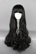 springcos 70cm RWBY Blake Belladonna Black Cosplay Women Long Wig with Bang