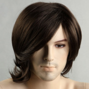 Hot Men Hair Wigs Brown Short Wigs for Men Artistic Men Wigs Natural Looking Hair Wig 3520