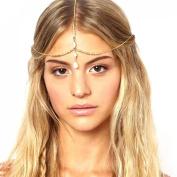 Towallmark Multilayer Chain Jewellery Headband Head Shell Hair Band Headpiece Gold