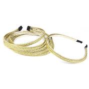 Phenovo 6Pcs Handmade Double Row Woven Wire Headband Hair Band