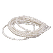 Phenovo 10Pcs Faux Pearls Beads Headband Jewellery Hair Band White