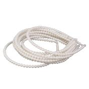 Phenovo 10Pcs Faux Pearls Beads Headband Jewellery Hair Band White