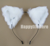 Women Cat Ear Headband Halloween Cute Party Anime Cosplay Costume Kitty Cat Ears White Hairband