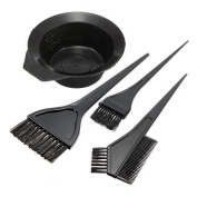 UZZO 4PCS Salon Hair Colouring Dyeing Kit Colour Dye Brush Comb Mixing Bowl Tint Tool Bleach