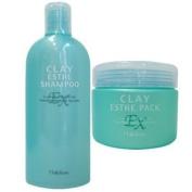 [Value Set] Molto Bene Clay Esthe Ex Shampoo 330ml & Pack 310ml Set