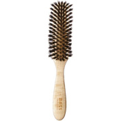 Brush - Semi Oval Seven Row Design 100% Wild Boar Bristles Light Wood Handle Bas by Bass Brushes